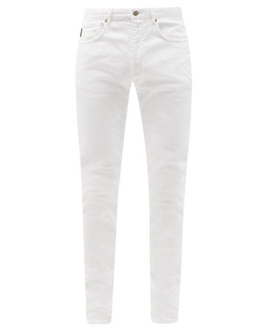 メンズ Incotex コットン スリムチノパンツ White