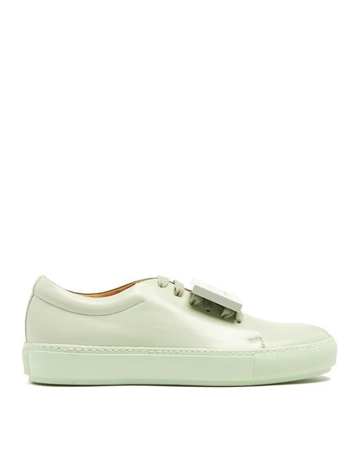 Acne | Green Adriana Turnup Leather Trainers | Lyst