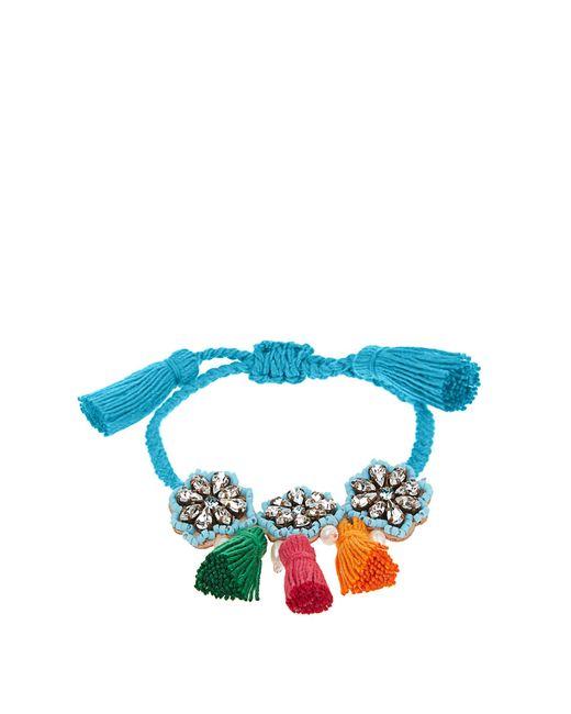 Shourouk   Blue Hippie Flower Bracelet   Lyst