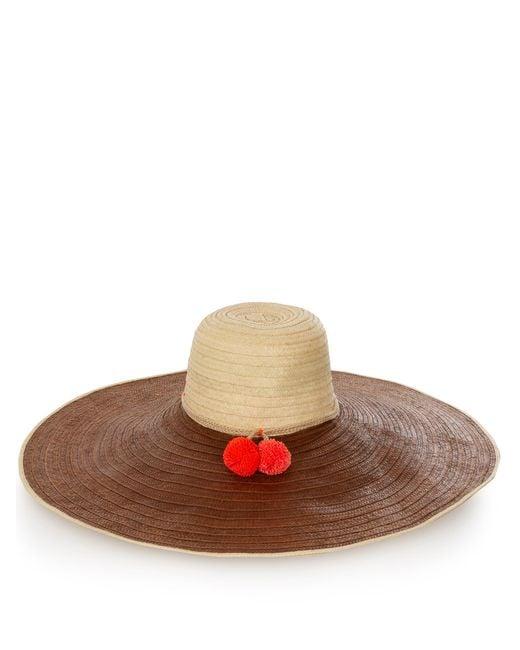 Sophie Anderson | Natural Corozon Pompom-embellished Raffia Hat | Lyst