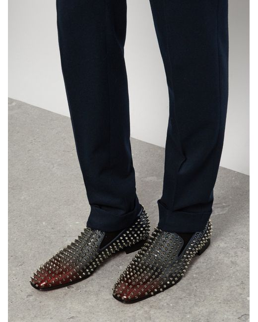 Christian Louboutin Dandelion Spike Embellished Loafers In