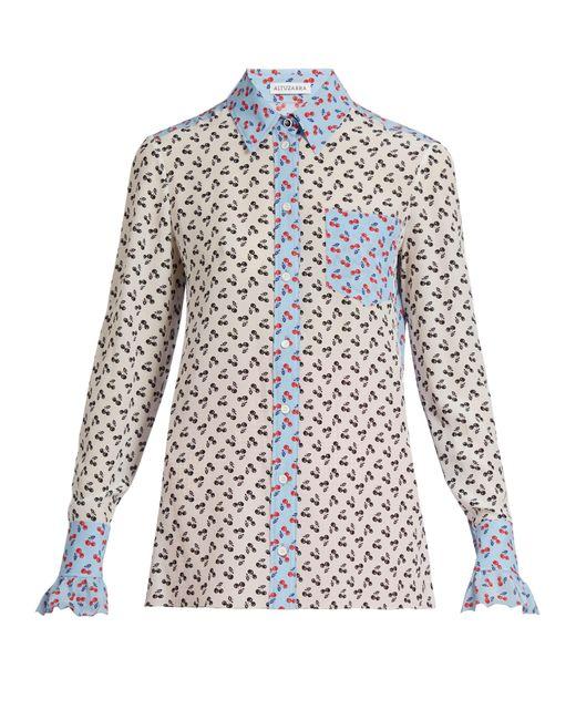 Altuzarra | Multicolor Clovis Cherry-print Silk Shirt | Lyst