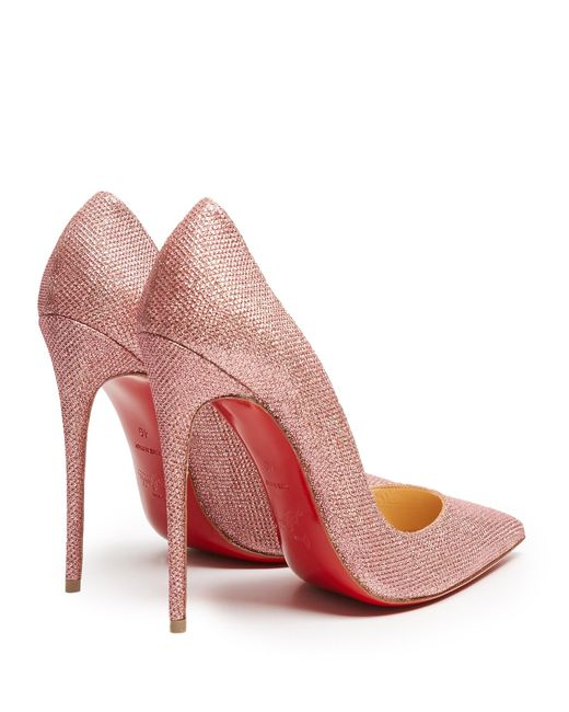 Christian Louboutin So Kate 120mm Glitter Pumps In Pink Lyst