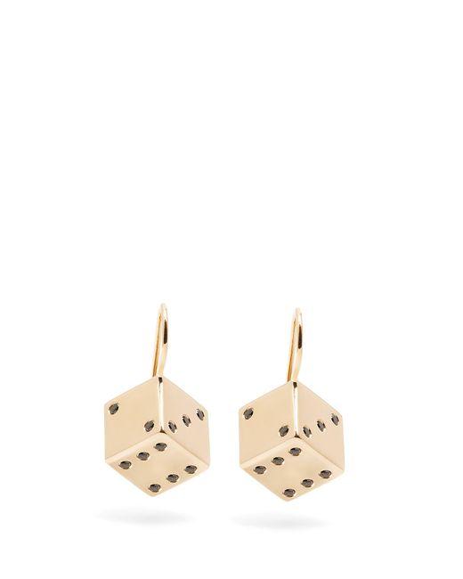 Alison Lou   Metallic Diamond & Yellow-gold Dice Earrings   Lyst