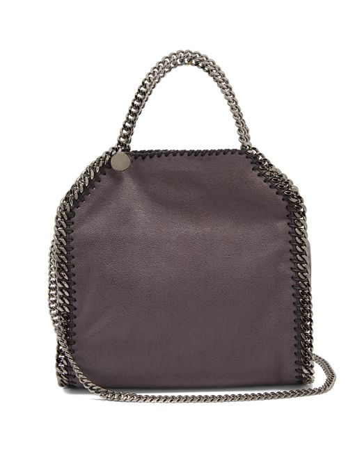 Stella McCartney | Gray Falabella Mini Faux-suede Cross-body Bag | Lyst