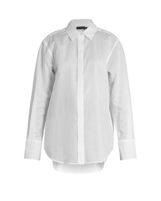Calvin Klein | White Luka Point-collar Cotton Shirt | Lyst