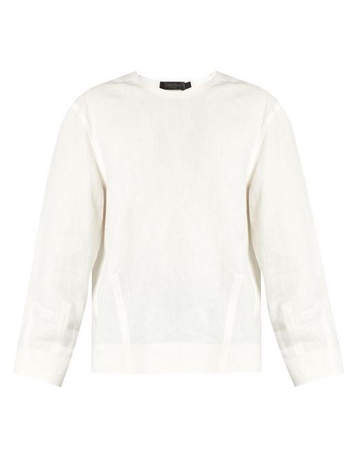 Calvin Klein   White Lotti Linen Herringbone Top   Lyst