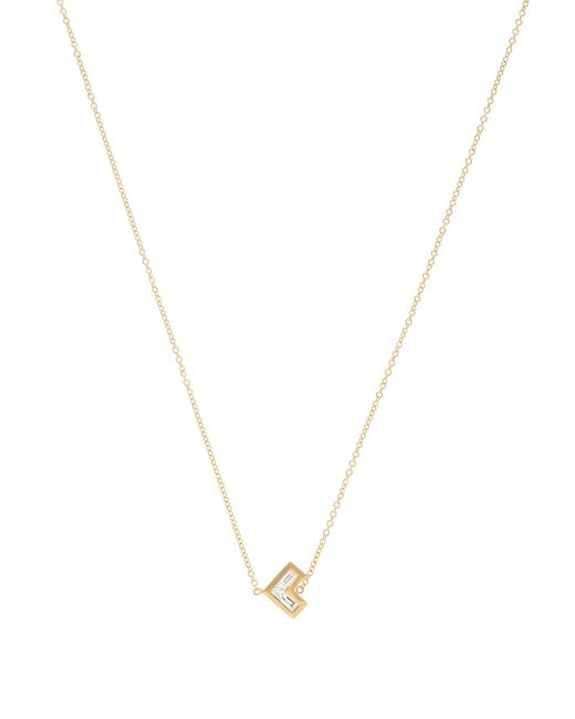 Azlee | Metallic Cosmic Diamond & Yellow-gold Necklace | Lyst