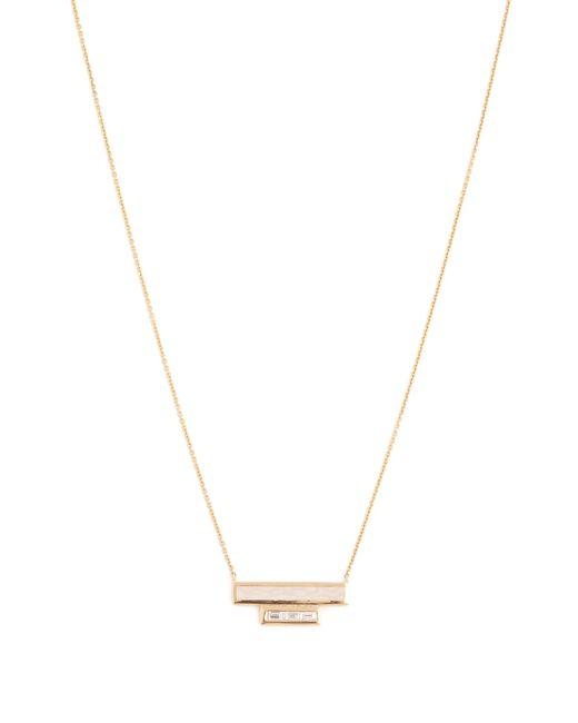 Azlee | Metallic White Light Diamond, Enamel & Yellow-gold Necklace | Lyst