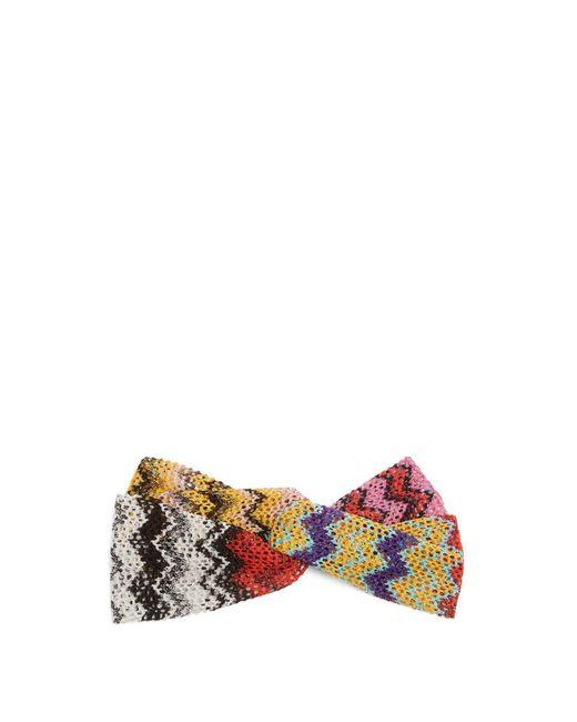 Missoni - Multicolor Zigzag Knitted Headband - Lyst