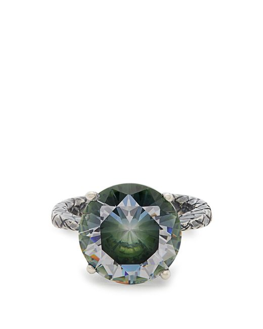 Bottega Veneta | Metallic Cubic-zirconia And Silver Ring | Lyst