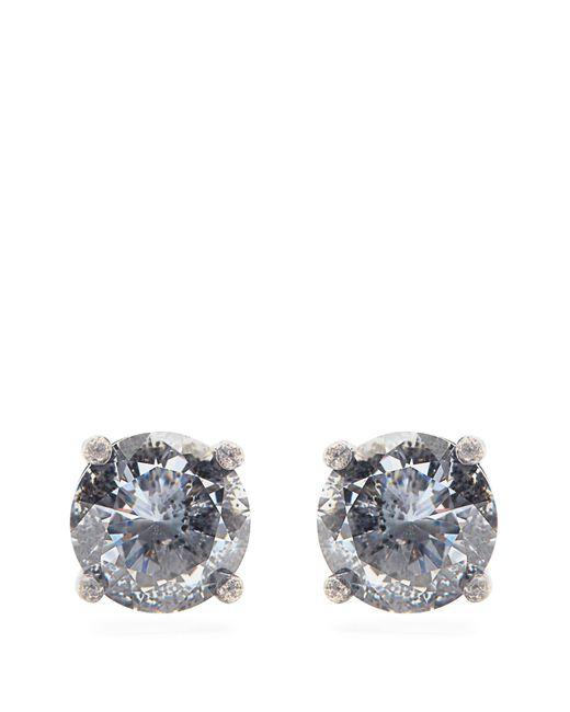 Bottega Veneta | Metallic Cubic Zirconia And Silver Earrings | Lyst