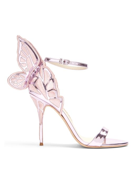 Sophia Webster | Pink Chiara Butterfly-wing Leather Sandals | Lyst