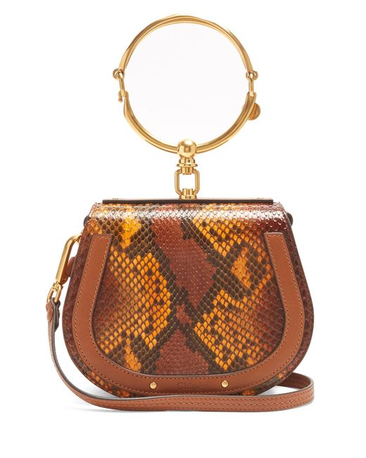 Chloé | Multicolor Nile Bracelet Small Python-effect Cross-body Bag | Lyst