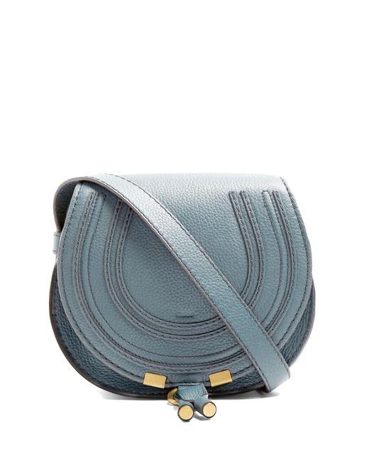 Chloé | Blue Marcie Small Leather Cross-body Bag | Lyst