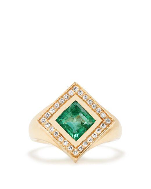 Jade Jagger | Green Diamond, Emerald & Yellow-gold Kite Ring | Lyst