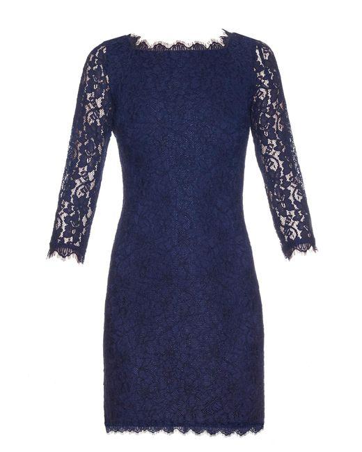 Diane von Furstenberg   Blue Zarita Dress   Lyst
