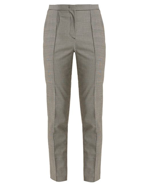 MSGM | Gray Hound's-tooth Checked Slim-leg Trousers | Lyst