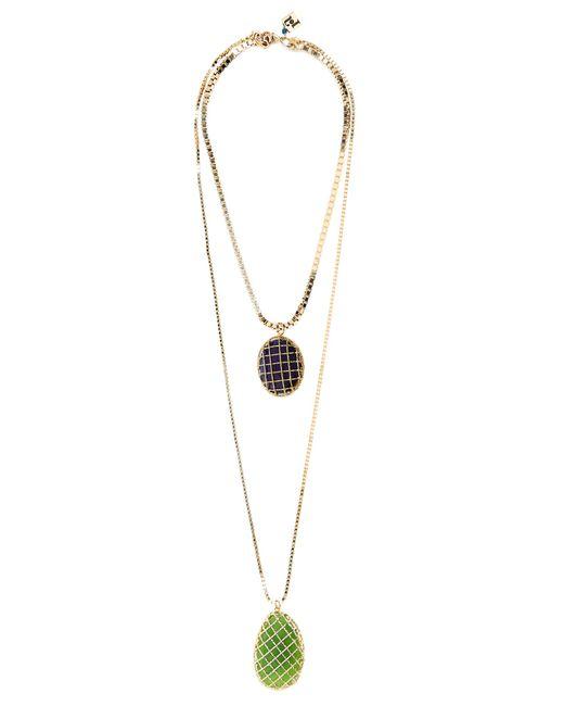 Rosantica By Michela Panero | Blue Segreto Quartz Double-strand Necklace | Lyst