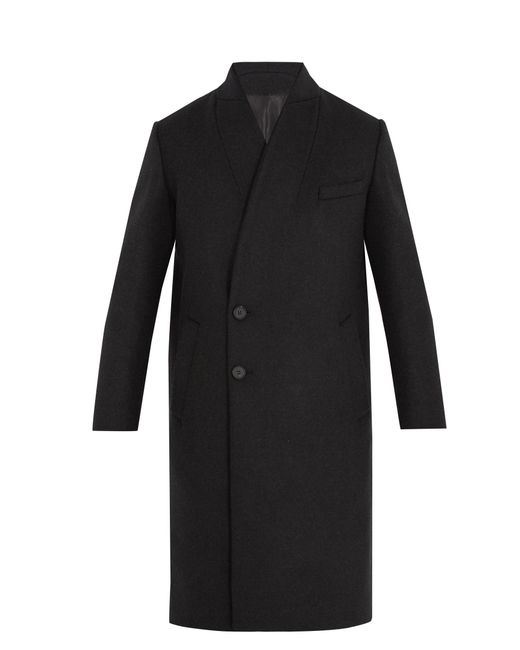Wooyoungmi   Black Double-breasted Wool-blend Coat for Men   Lyst