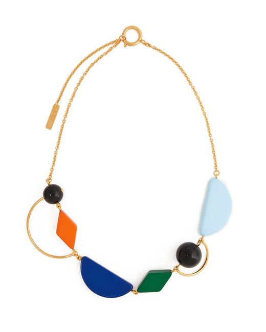 Marni - Multicolor Geometric Resin And Metal Necklace - Lyst