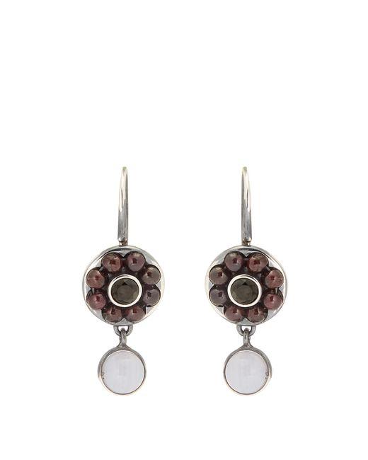 Bottega Veneta | Red Stone-embellished Sterling-silver Earrings | Lyst