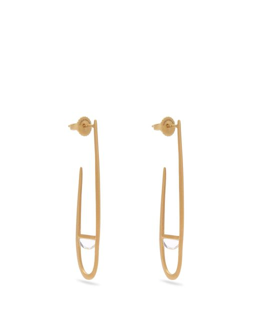 Monique Péan   Metallic Sapphire & Yellow-gold Earrings   Lyst