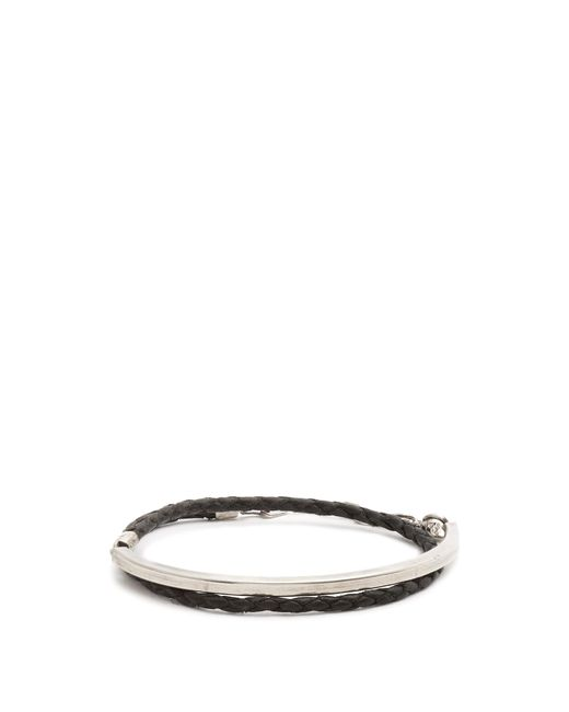 Title Of Work   Multicolor Leather And Sterling-silver Wraparound Bracelet for Men   Lyst