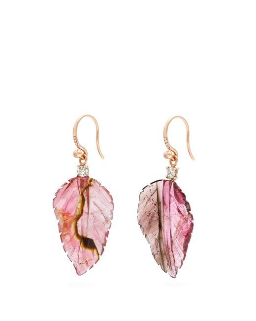 Irene Neuwirth | Pink Diamond, Tourmaline & Rose-gold Earrings | Lyst
