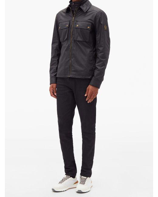 Veste en coton ciré Dunstall Belstaff pour homme en coloris Black