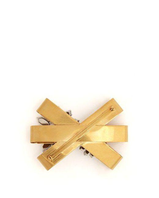 Crystal-embellished bow brooch Miu Miu 6T01U