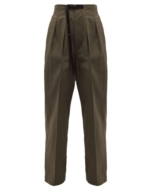 Chimala Multicolor Clip-buckle Belted High-rise Cotton Trousers
