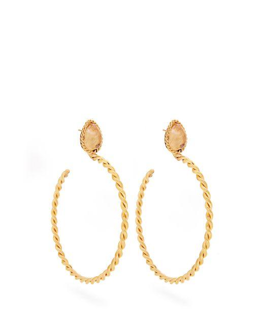 Sylvia Toledano | Metallic Quartz And Gold-plated Earrings | Lyst