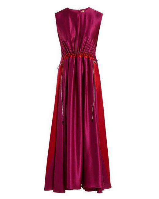 Keeva silk-satin dress Roksanda Ilincic TMTp5ii