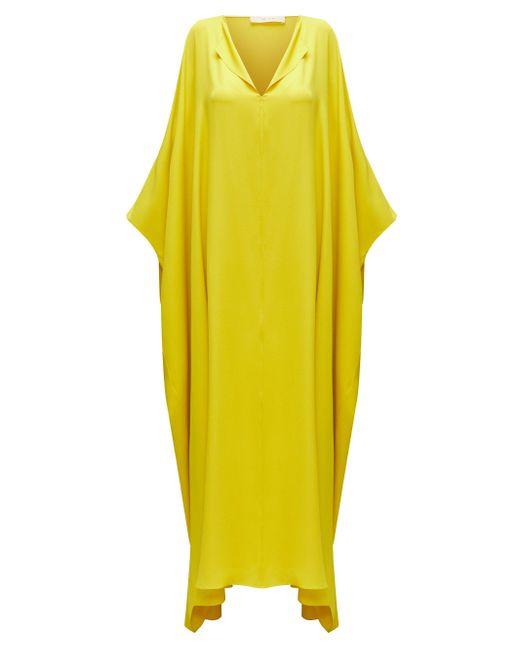 The Row エンリコ シルクカフタン マキシドレス Yellow