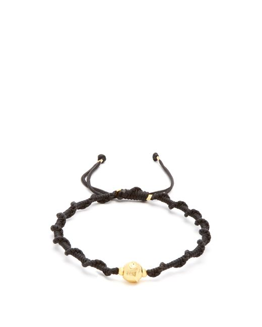 Black Dakini - Multicolor Gold Vermeil And Cord Bracelet for Men - Lyst