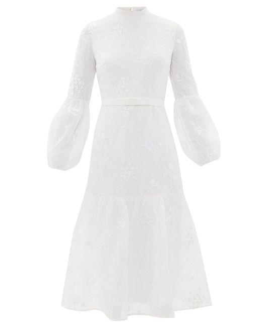 Erdem サンドラ フローラルレースドレス White