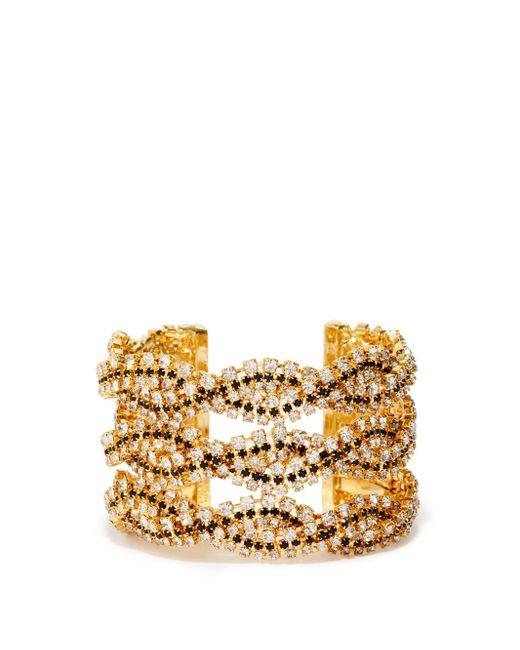 Rosantica Metallic Chevron Crystal-embellished Cuff