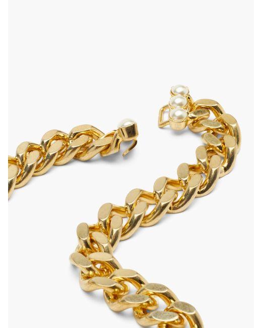 Gucci GG&パール チョーカーネックレス Metallic