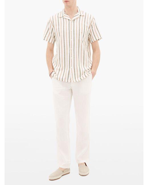 Onia Pantalon en lin Collin homme de coloris blanc