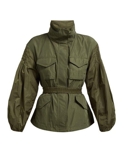 Moncler Green Santose Technical Gabardine Jacket
