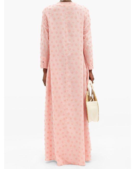 Dodo Bar Or ニリー フローラル コットンマキシチュニックドレス Pink