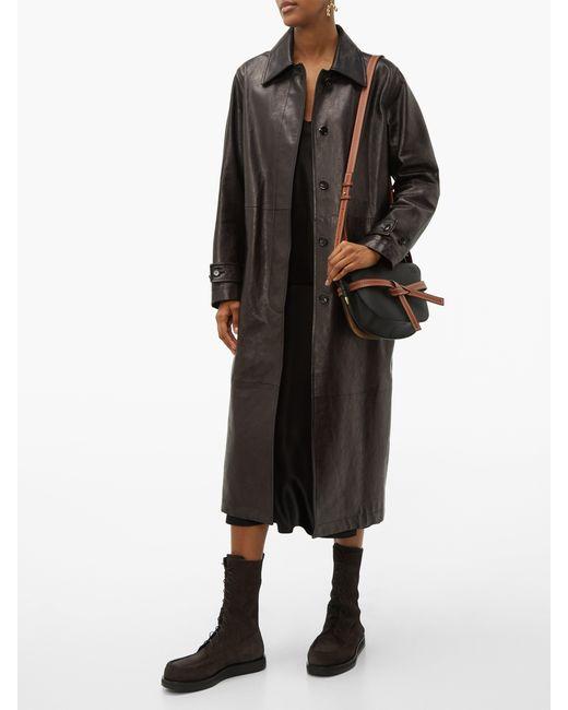 608568ea32b Women's Black Gate Small Grained Leather Cross Body Bag