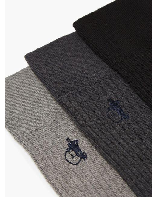 メンズ London Sock Company Simply Sartorial Traditional コットンブレンドソックス X3 Multicolor
