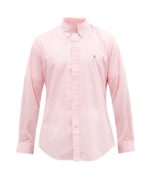 メンズ Polo Ralph Lauren ストライプ コットンポプリンシャツ Pink
