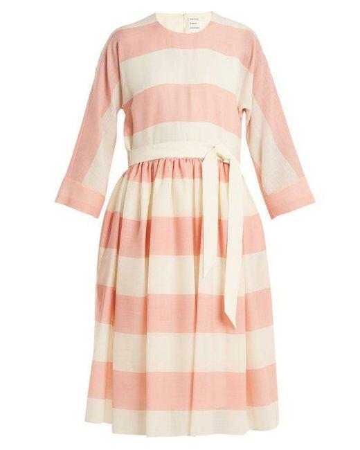 Etamine dropped-waist striped wool dress Maison Rabih Kayrouz p1B2gYtGVd
