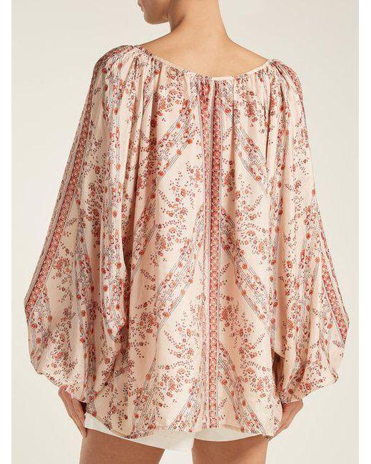 Borat floral-print silk blouse Mes Demoiselles... Hot Sale For Sale Supply Sale Online Discount Free Shipping iTJkVlo