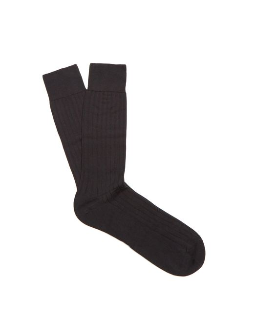 Pantherella - Black Pembrey Cotton Blend Socks for Men - Lyst