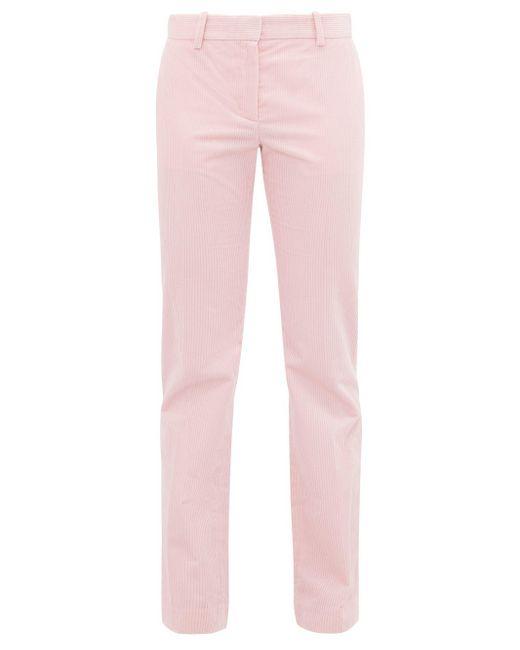 Bella Freud Schoolboy ストレート コーデュロイパンツ Pink