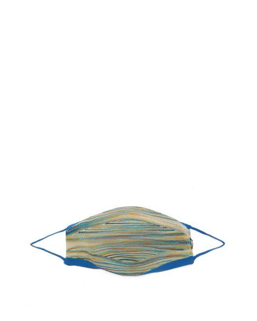 メンズ Missoni ストライプ フェイスマスク Blue